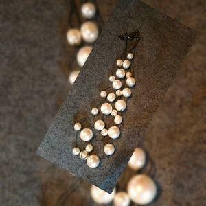 Carolee Rosetone Pearl Necklace